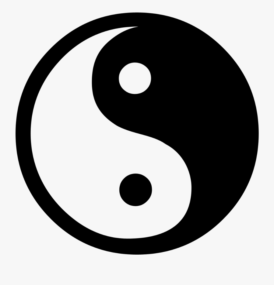 Yin Yang Free Stock Photo A Yin Yang Symbol With A - Simple Yin Yang Tattoo, Transparent Clipart