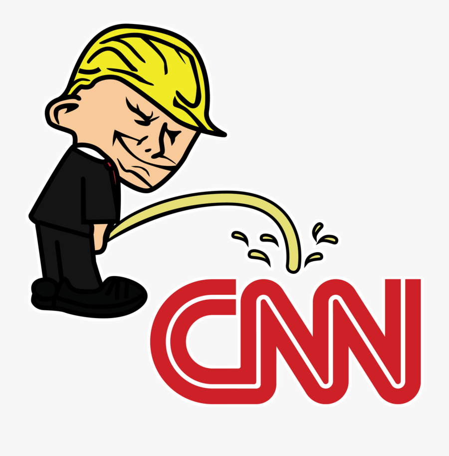 Pi$$ing Trump Badboy Cnn Clear Sticker - Trump Peeing On Cnn Sticker, Transparent Clipart