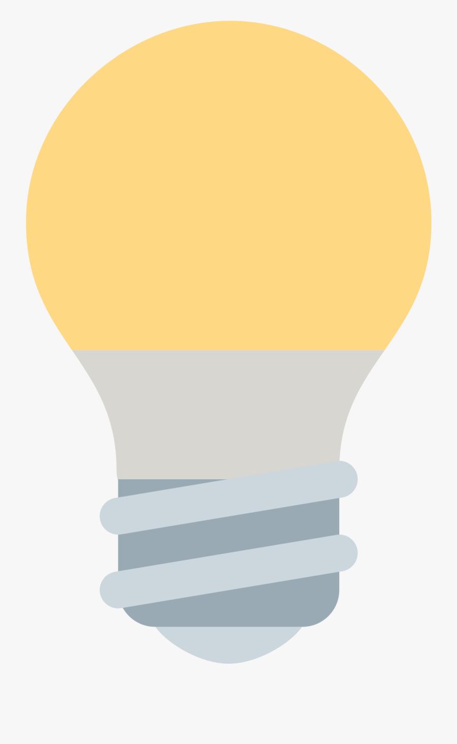 Great Clip Filetwemoji - Light Bulb Emoji Png, Transparent Clipart