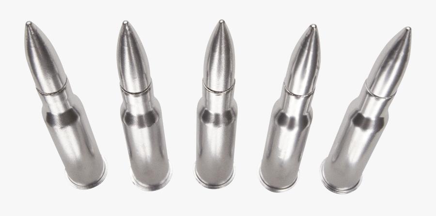 Bullets Silver Row - Silver Bullet Transparent, Transparent Clipart