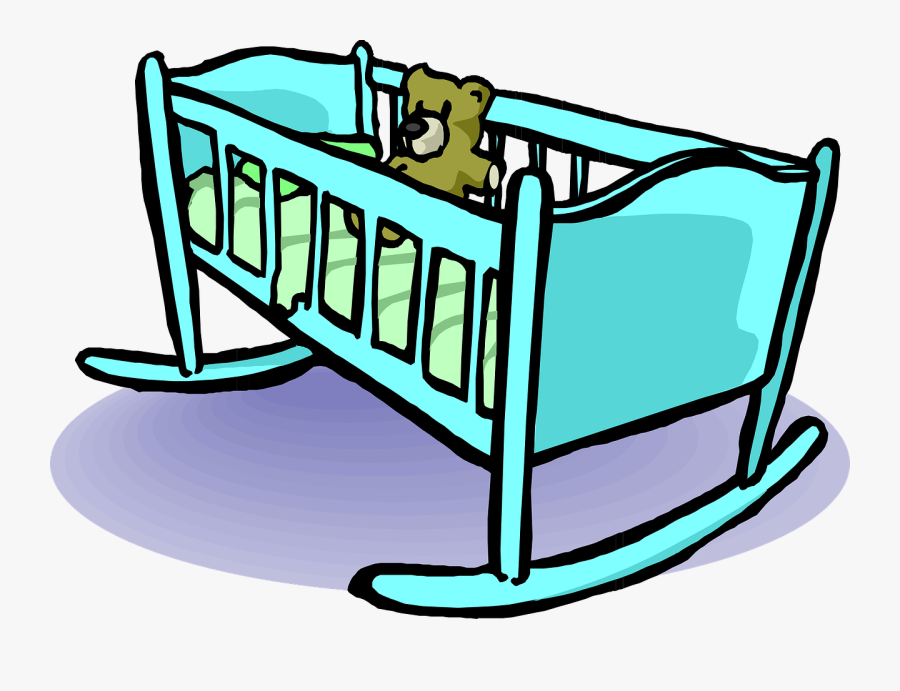 Bed Clipart Baby - Cradle Clipart, Transparent Clipart