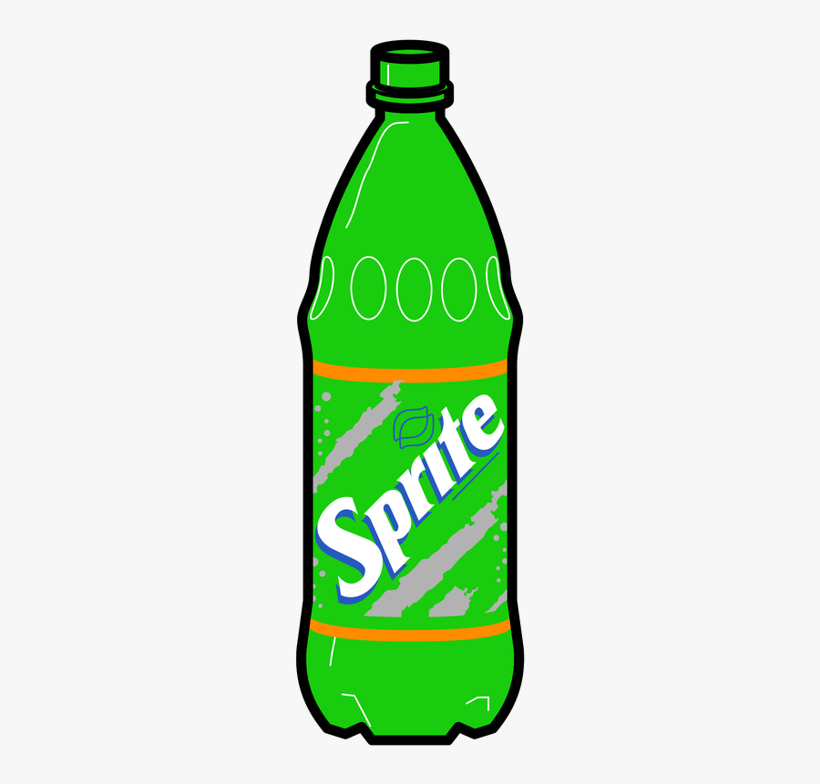 Picture - Sprite Bottle Drawing, Transparent Clipart
