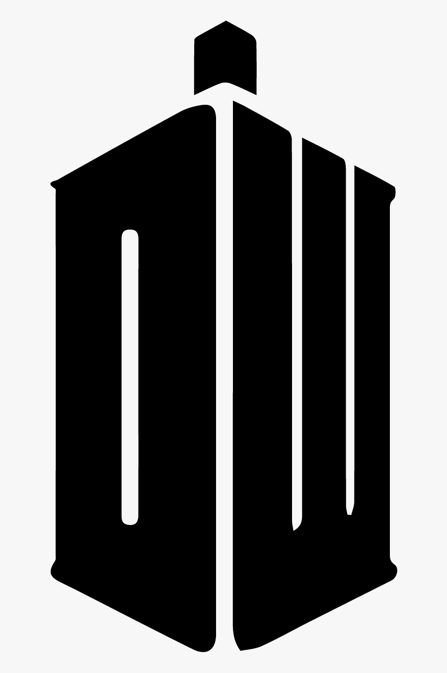 Great For Freezer Paper - Doctor Who Tardis Symbol, Transparent Clipart