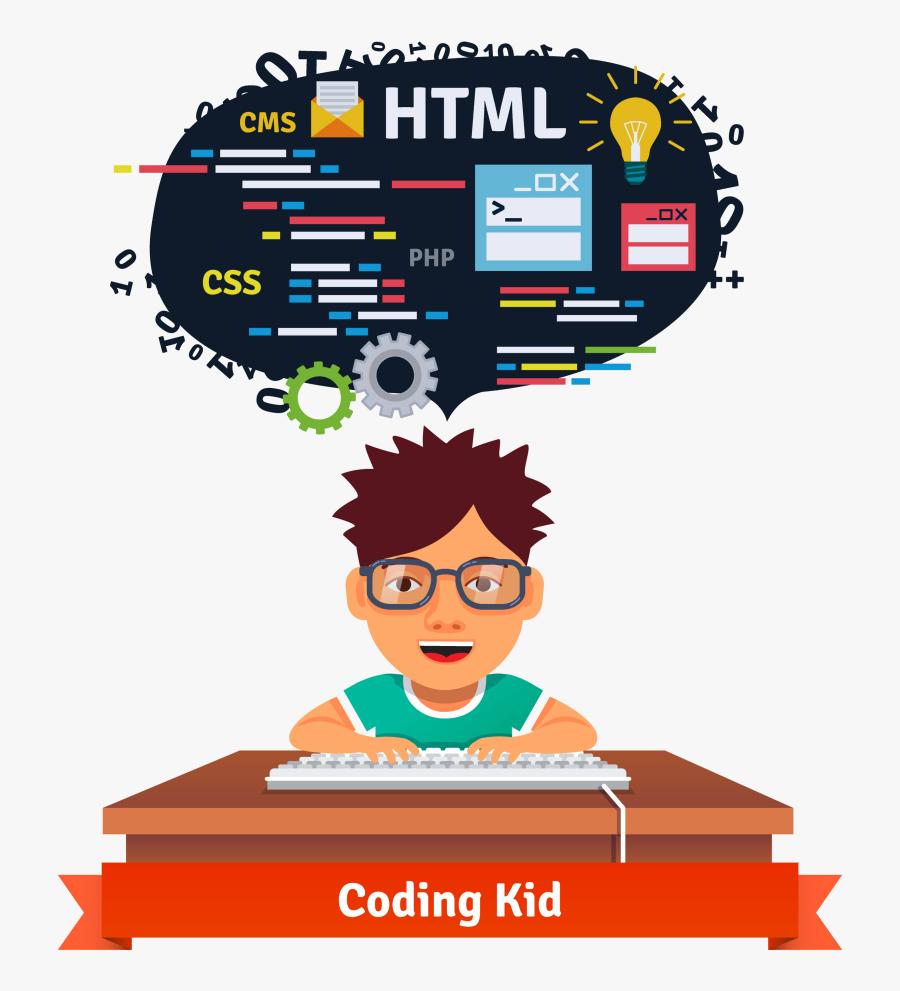 Programmer Child Source Code - Coding Kids, Transparent Clipart