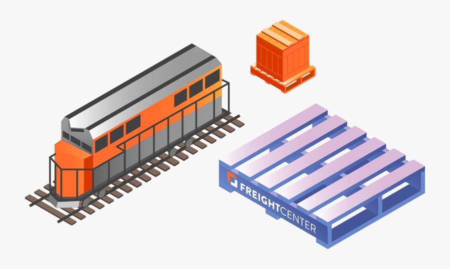 Freight Shipping Intermodal Rail - Cargo, Transparent Clipart