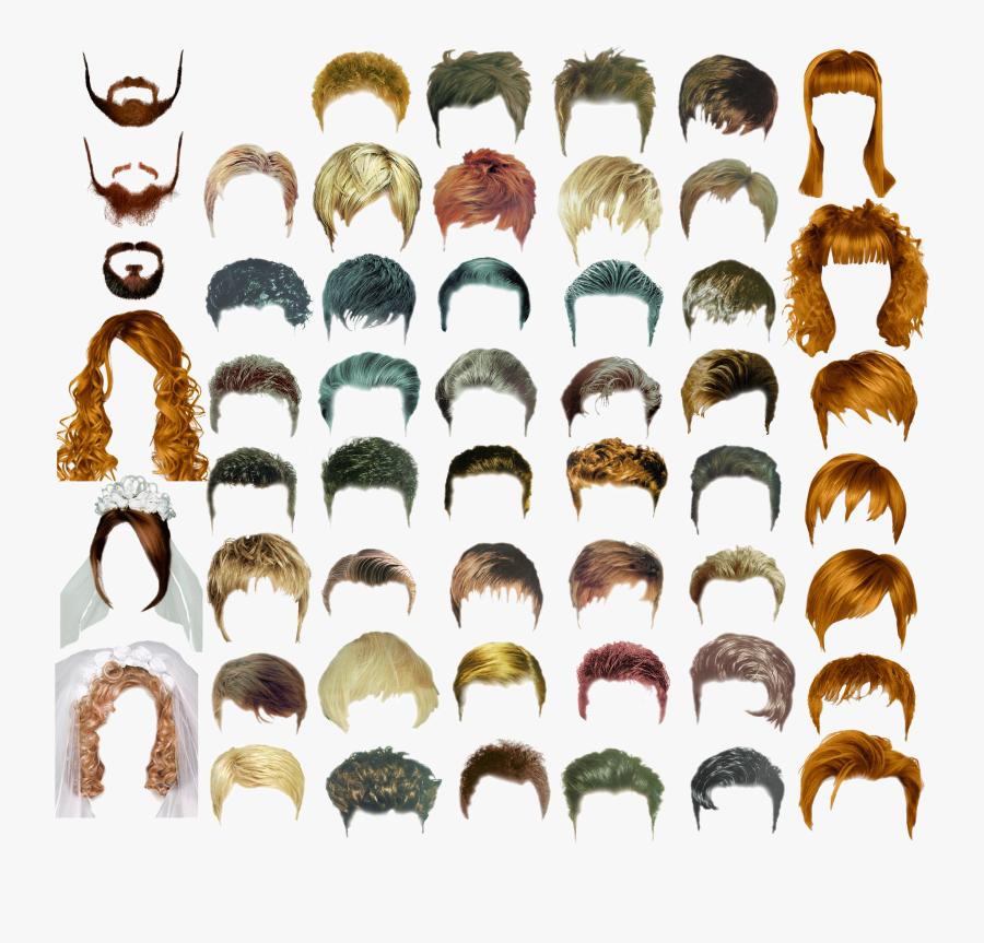Clip Art Long Hair Male Design - Men Long Hair Photoshop, Transparent Clipart