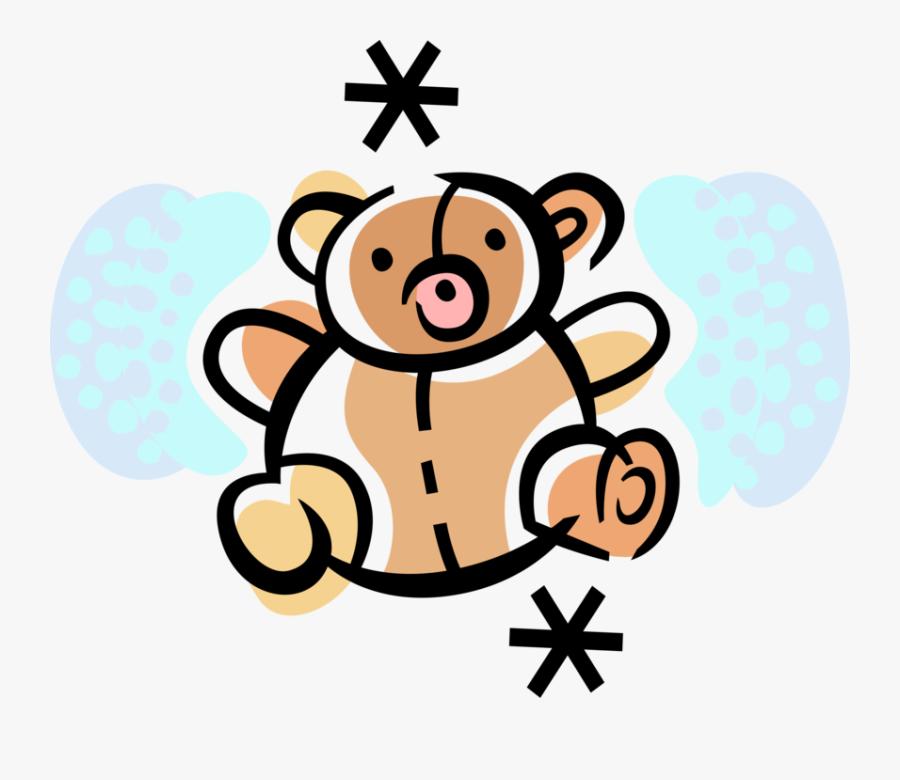 "Vector Illustration Of Child""s Stuffed Animal Teddy - Teddy Bear Drawing, Transparent Clipart"