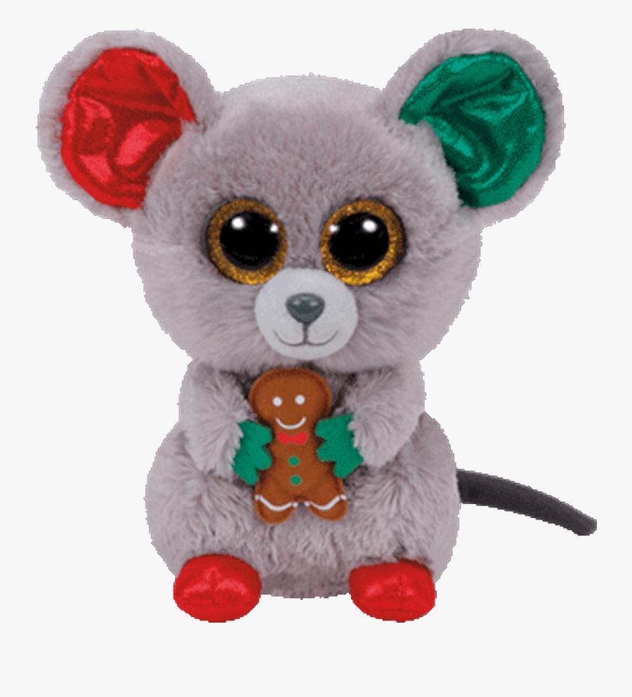 Beanie Boo Plush Stuffed Animal Mac The Christmas Mouse - Christmas Beanie Boos Names, Transparent Clipart