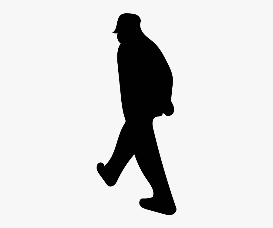 Man, Walking, Hat, Old, Thinking, Blue, Red, Isolated - Hat Man Walking Silhouette, Transparent Clipart