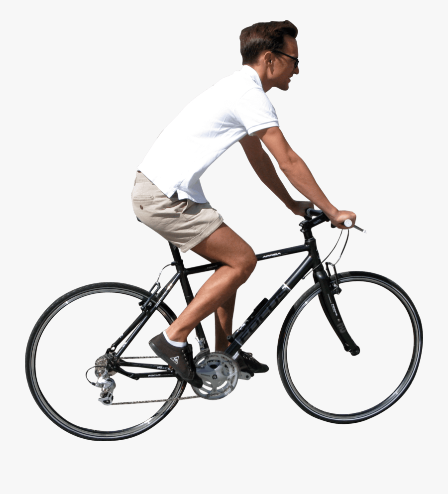 People Ride Bike Png, Transparent Clipart