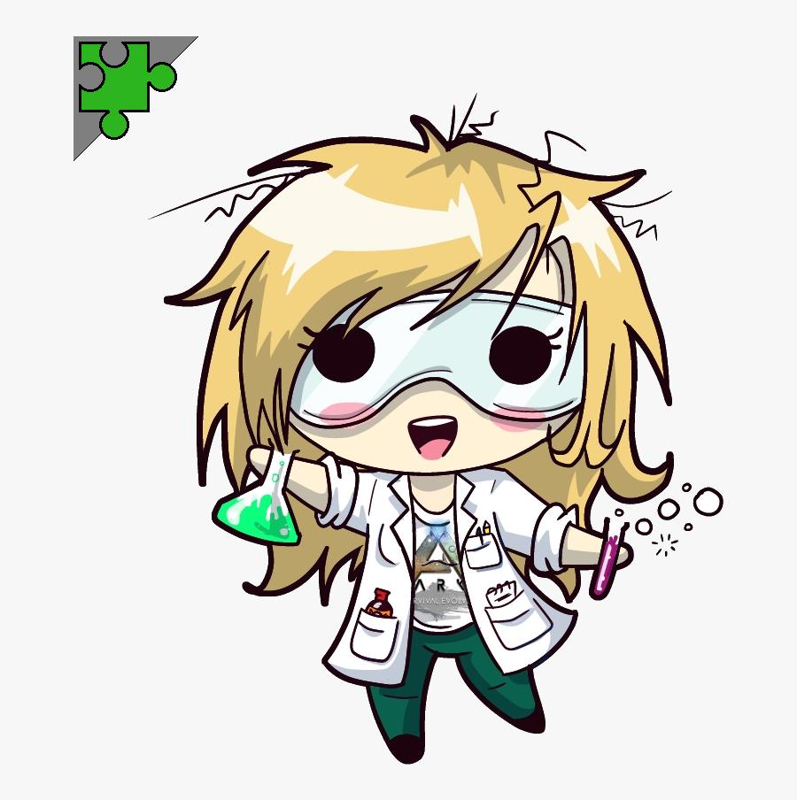 Transparent Mad Clipart - Anime Scientist Chibi, Transparent Clipart