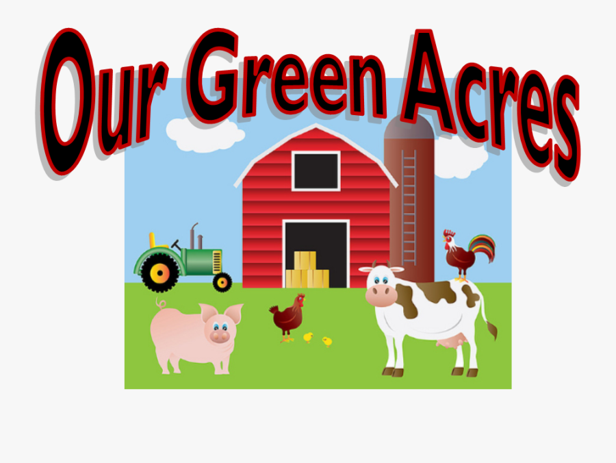 Rock River Valley Barbershop - Red Barn And Animals, Transparent Clipart