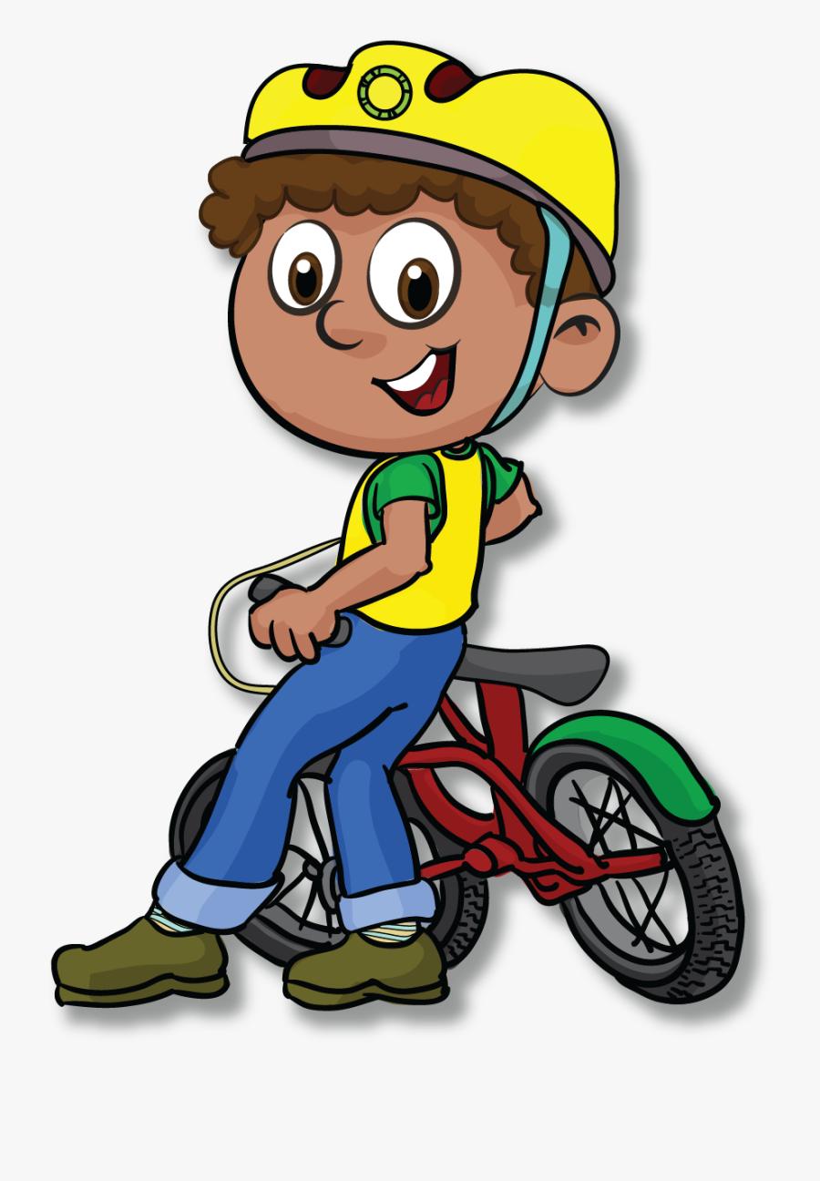 "We""re Reaching Out To Kids, Their Schools, Their Whanau, - Kid Riding Bike Cartoon Png, Transparent Clipart"