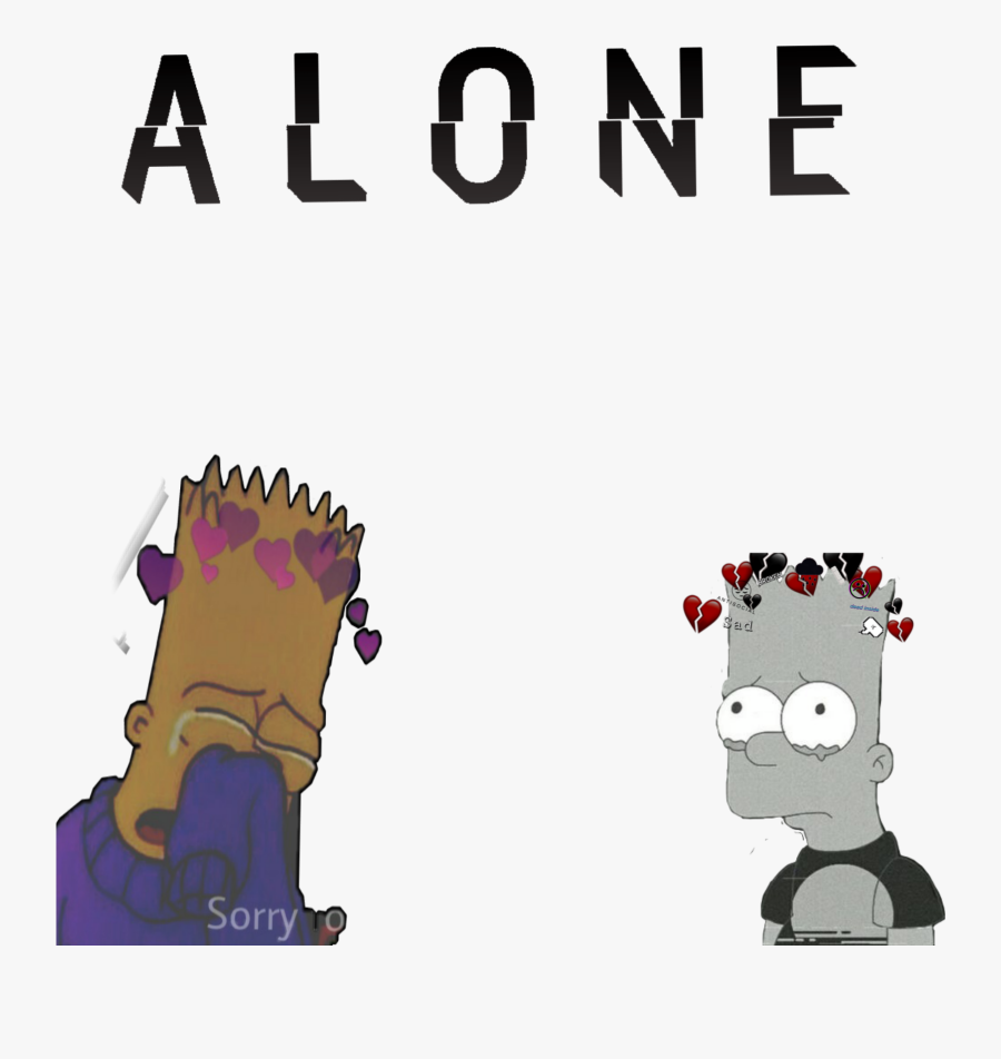#alone #sticker #antisocialsocialclub #sad - Heart Broken Sad Pictures Animated, Transparent Clipart