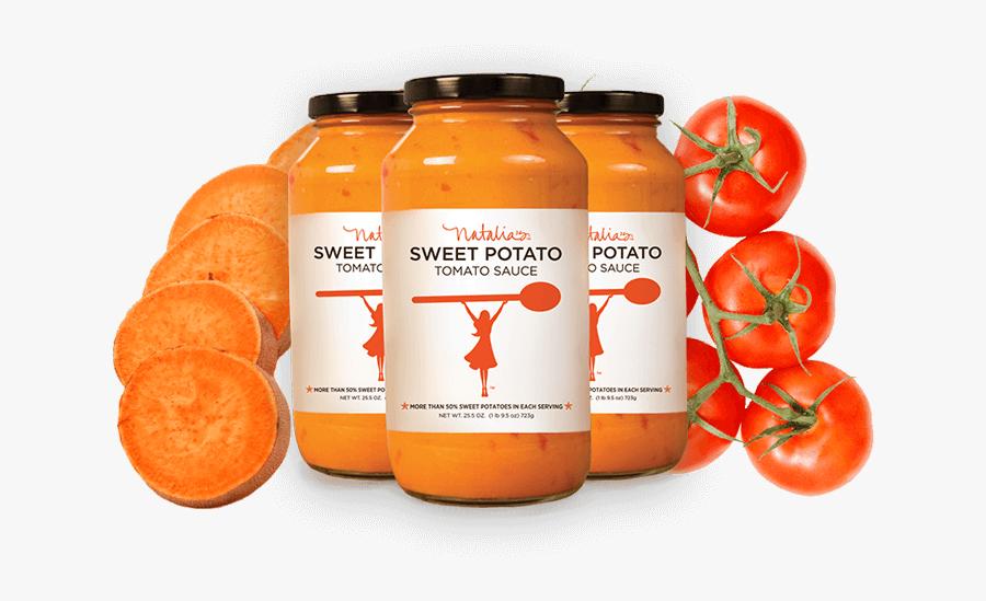 Jar Clipart Pasta Sauce - Natalia's Sweet Potato Tomato Sauce, Transparent Clipart