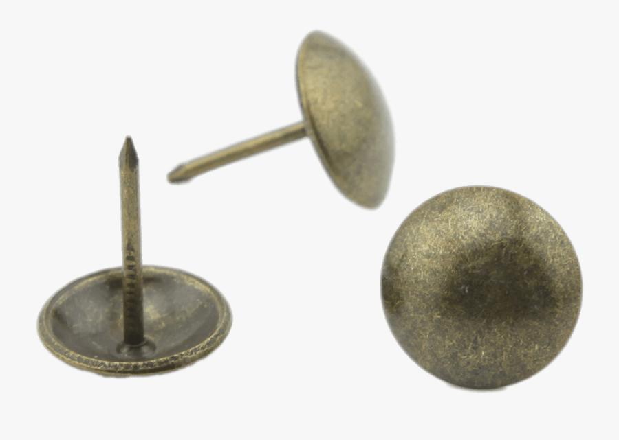 Round Push Pin - Metal Push Pin Png, Transparent Clipart