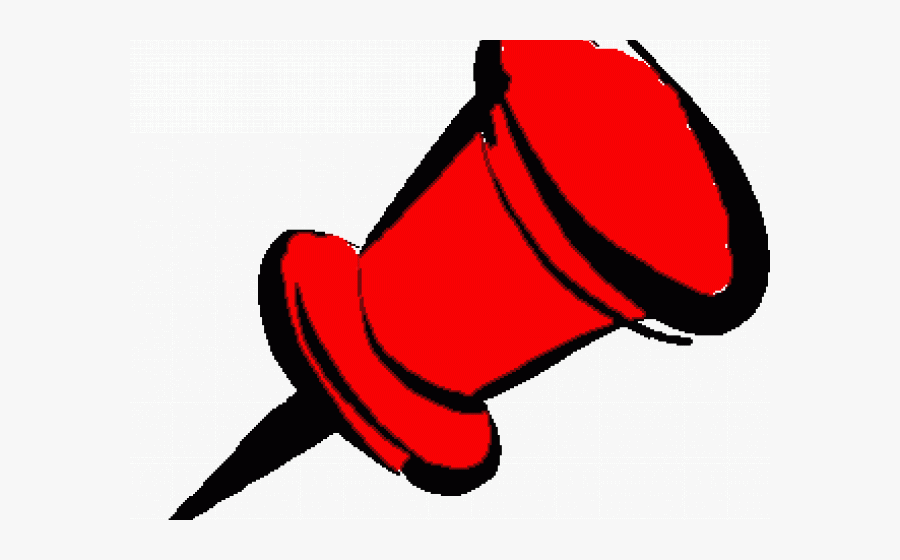 Red Push Pin Clipart - Push Pin, Transparent Clipart