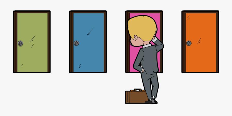 Door Clipart Door Holder - Cartoon, Transparent Clipart