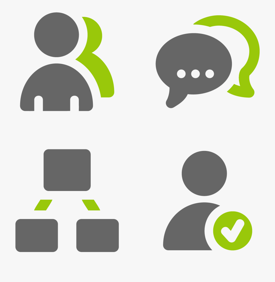 Customers Simple Icon - User Icon Grey Green, Transparent Clipart