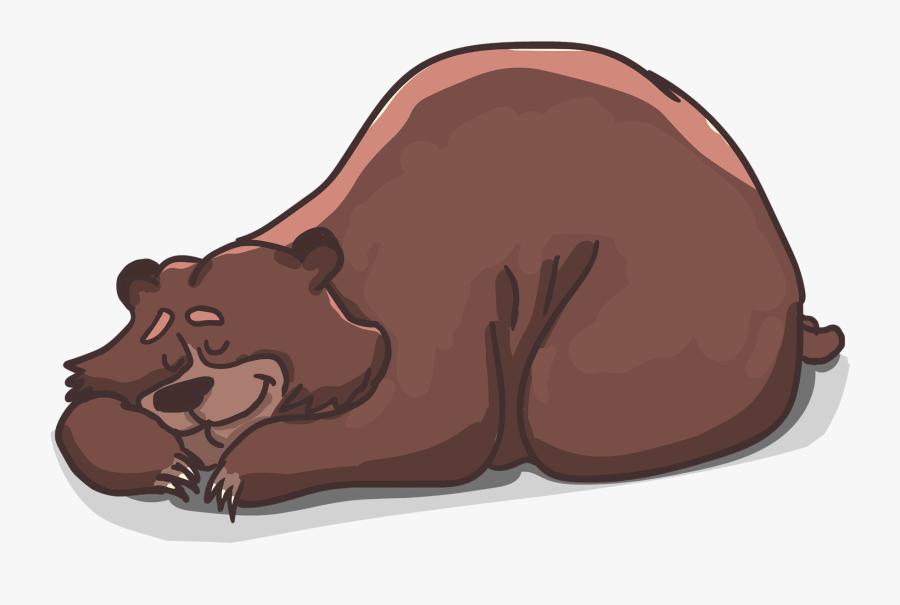 Clipart Sleeping Sleep Late - Do Not Disturb Bear Sleeping Sign, Transparent Clipart