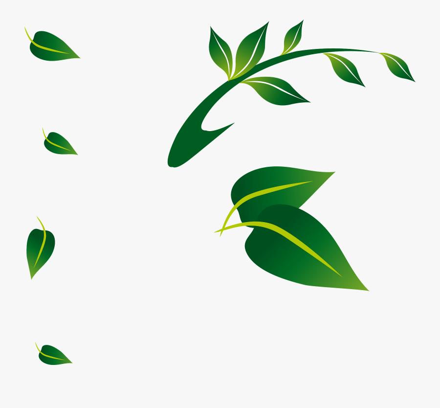 Leaf Floral Png Clipart , Png Download - Green Floral Leaf Png, Transparent Clipart