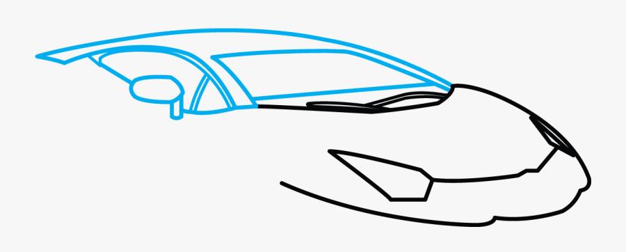 Lamborghini Aventador J Drawing - Lamborghini Easy How To Draw A Cool Car, Transparent Clipart