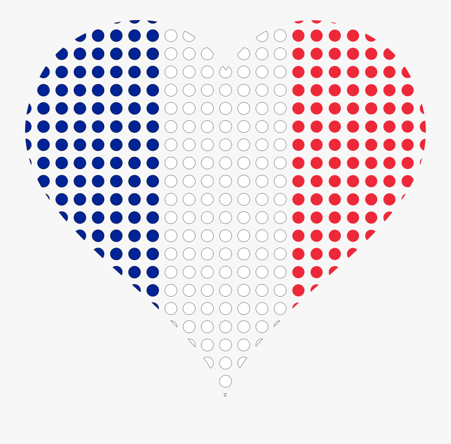 A Heart With French Flag An The Spanish Flag Clipart - French Flag Heart Transparent Background, Transparent Clipart