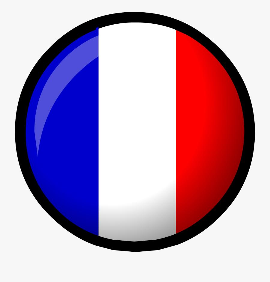 France Flag - Club Penguin France, Transparent Clipart