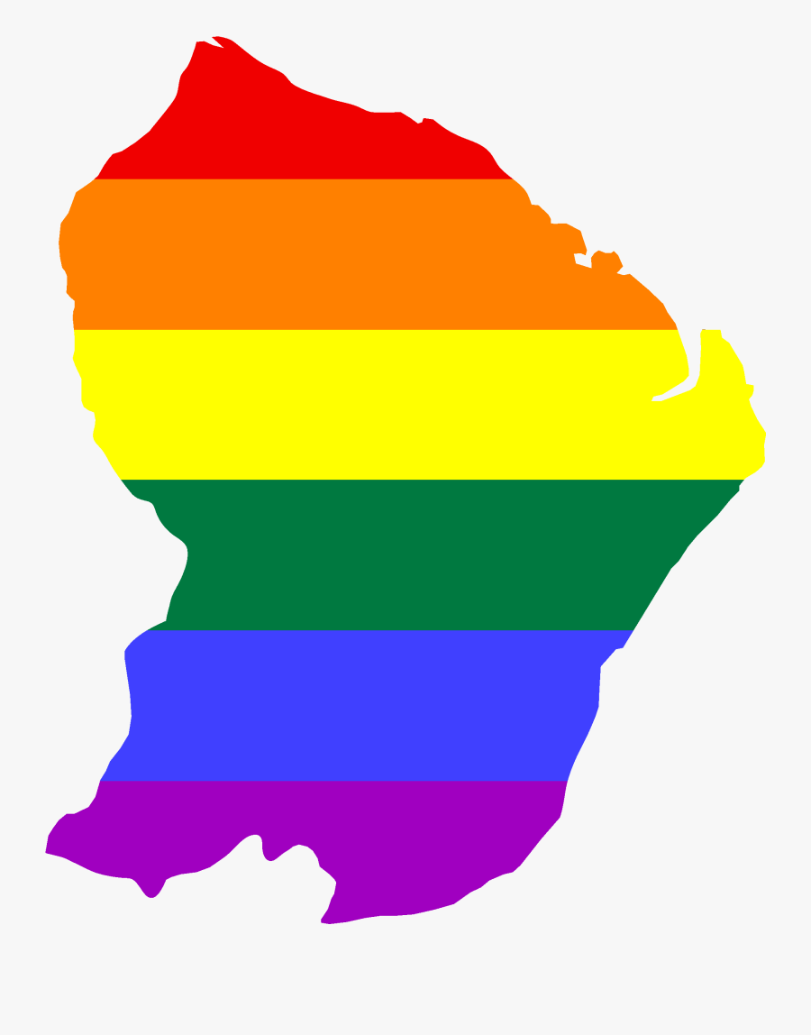 Lgbt Flag Map Of French Guiana Clipart , Png Download - Map And Flag Of French Guiana, Transparent Clipart