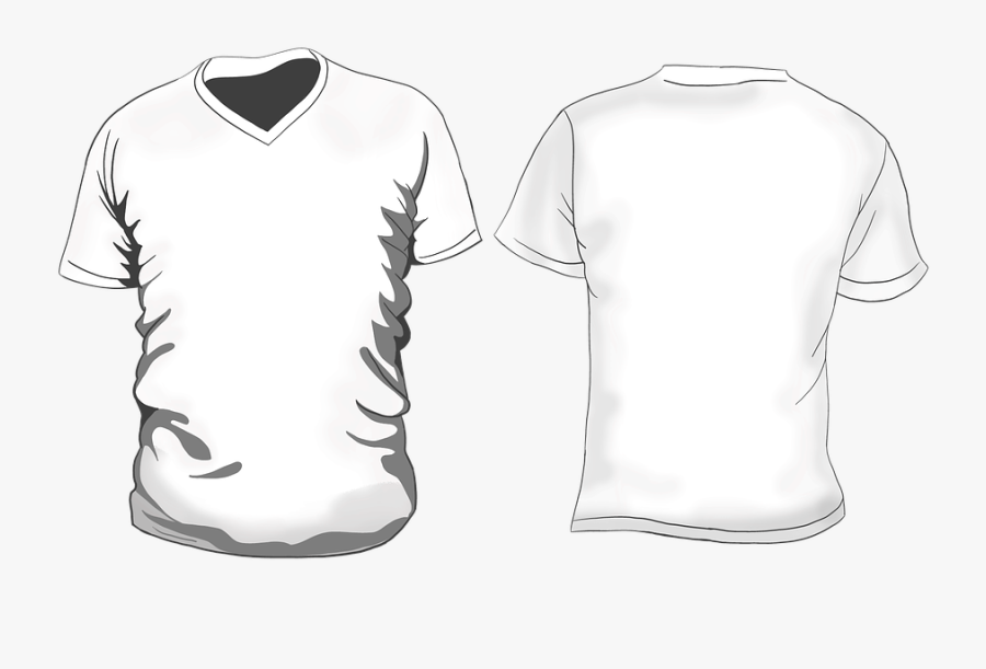 T-shirt, White, Clothing, Shirt - Template Polo Shirt Png, Transparent Clipart