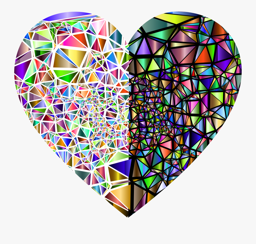 Transparent Glass Broken Png - Broken Heart Stained Glass, Transparent Clipart
