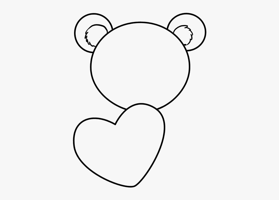 How To Draw Teddy Bear With Heart - Draw Teddy Bear, Transparent Clipart