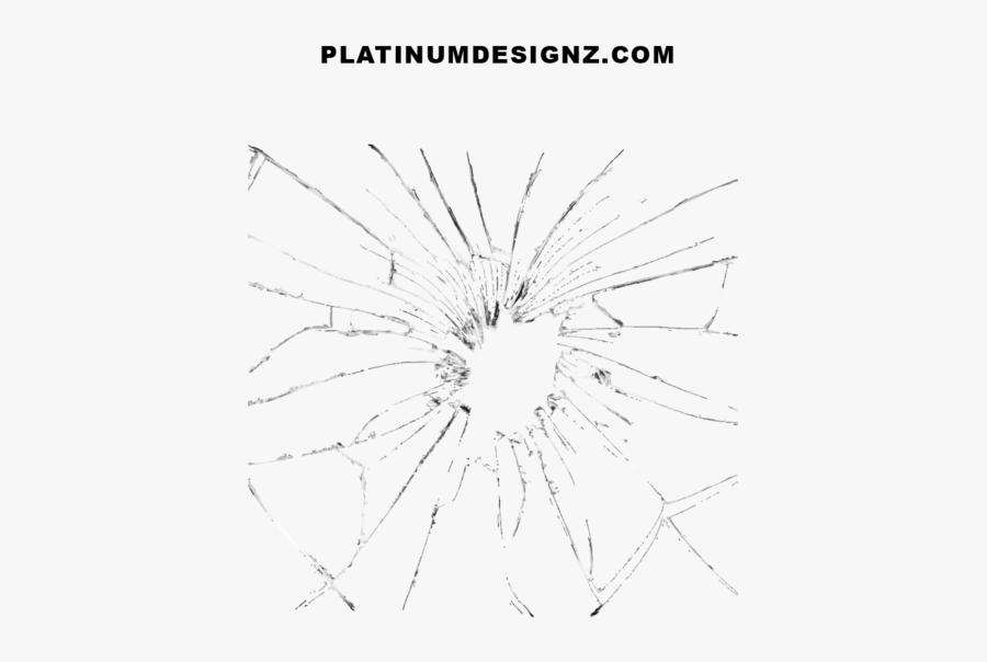 Bullet Hole Glass Png, Transparent Clipart