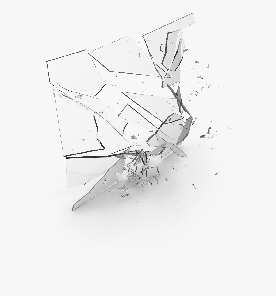 #broken #glass #brokenglass - Sketch, Transparent Clipart