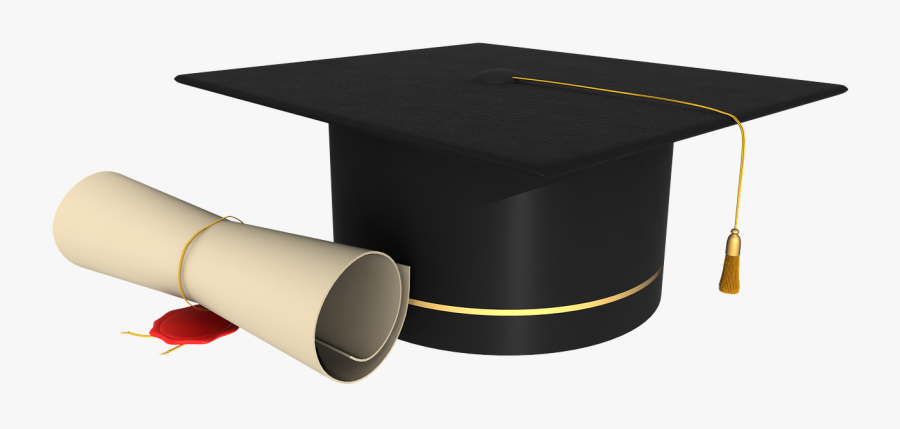 Education National Secondary School Company Student - Graduation Hat And Scroll Png, Transparent Clipart