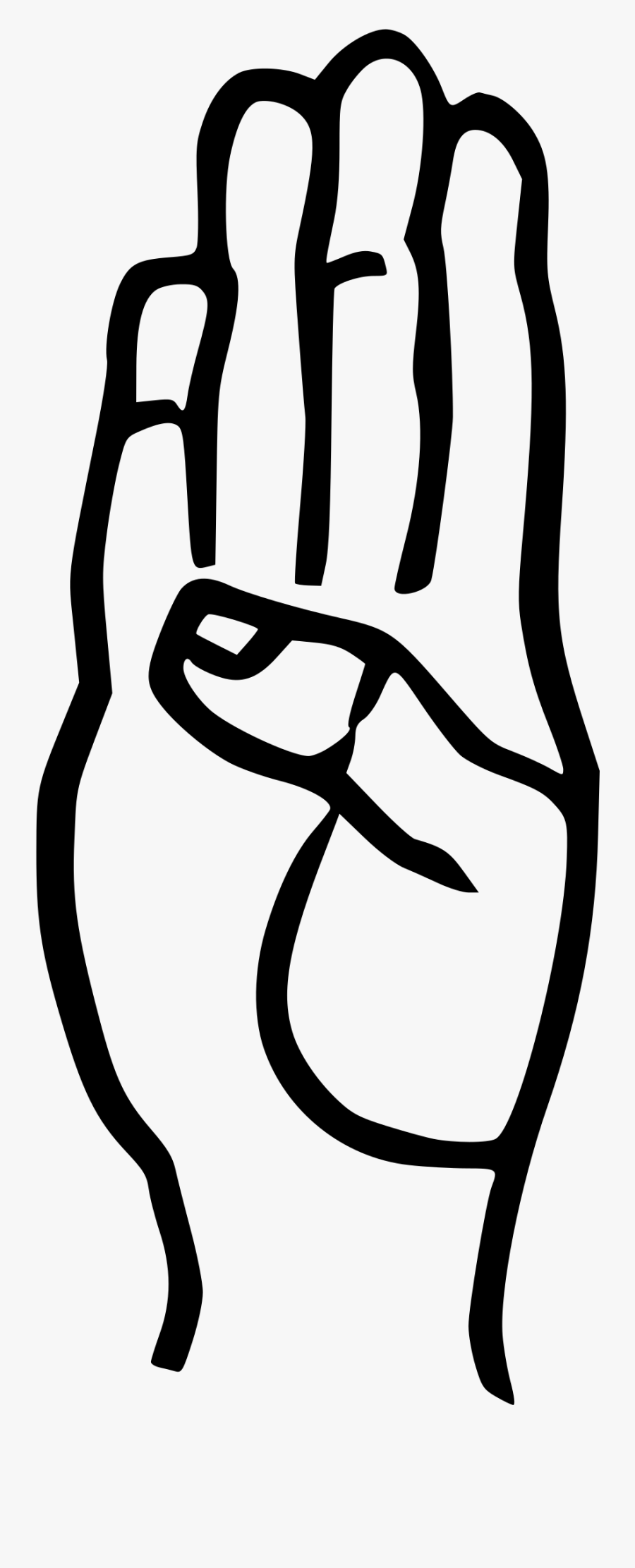 Clip Art Letter B In Sign Language - Sign Language Individual Letters, Transparent Clipart