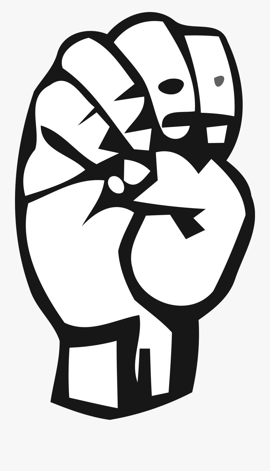 Transparent Shhhhh Clipart - American Sign Language Letter E, Transparent Clipart