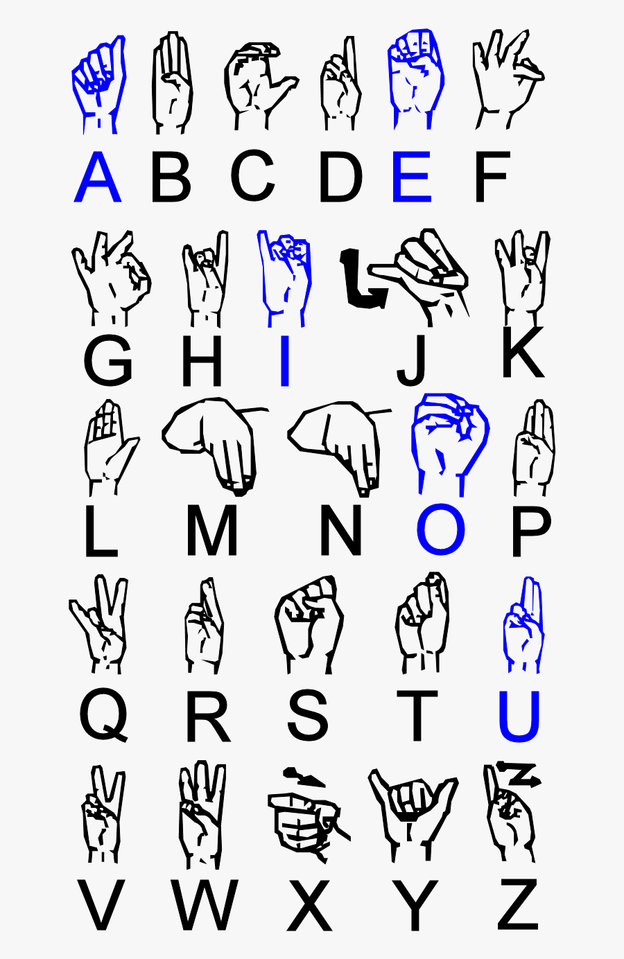 Number 4 Clipart Asl - X In Irish Sign Language, Transparent Clipart