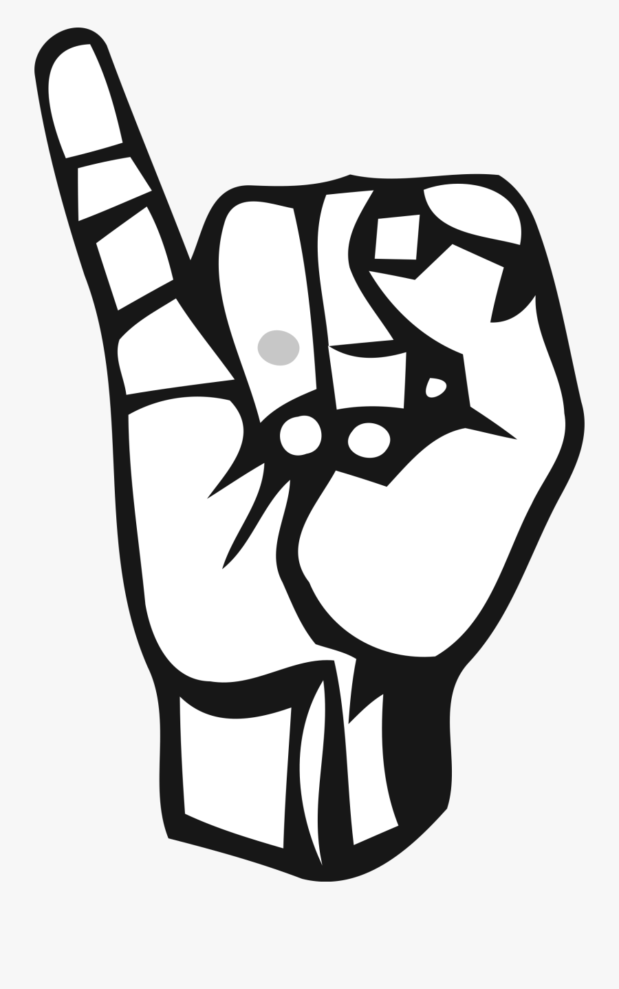 Sign Language Letter I Png, Transparent Clipart
