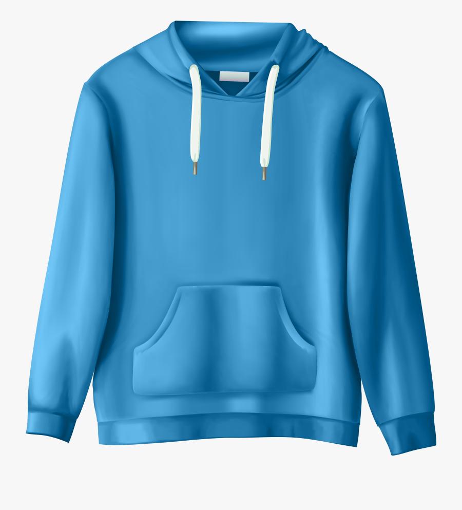 Blue Sweatshirt Png Clip Art - Transparent Background Clothing Png, Transparent Clipart