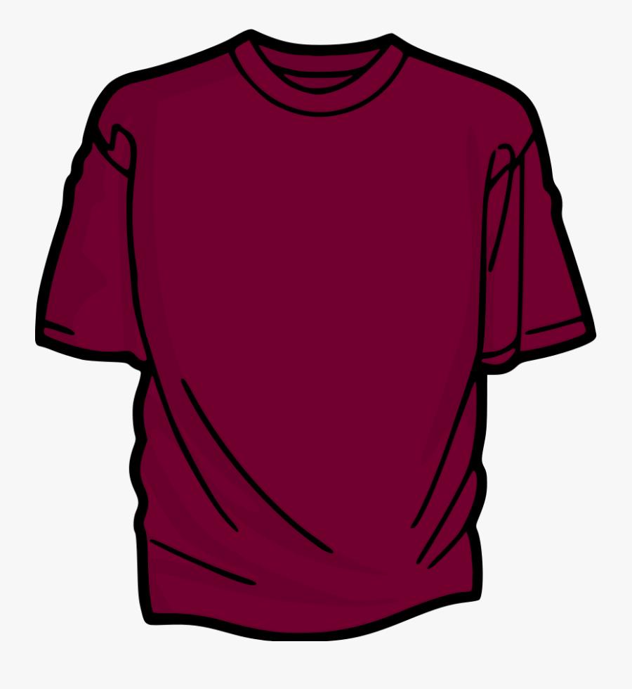 Shirt Clipart - Maroon T Shirt Clip Art, Transparent Clipart