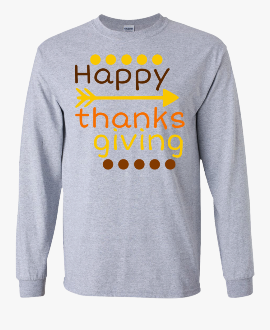 Turkey Clipart Shirt - Long-sleeved T-shirt, Transparent Clipart
