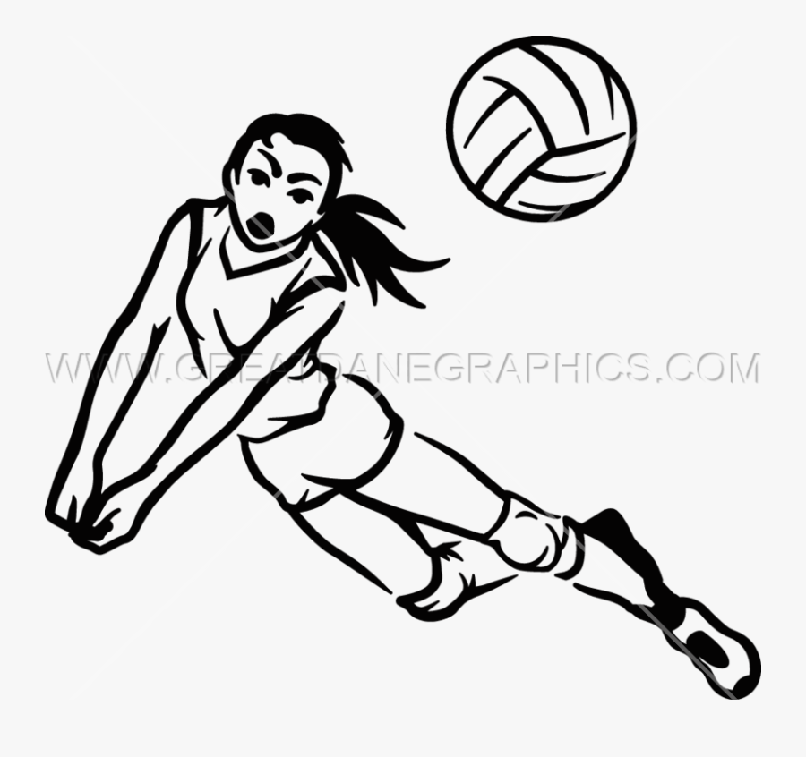 Drawing At Getdrawings Com - Playing Volleyball Drawing Easy, Transparent Clipart