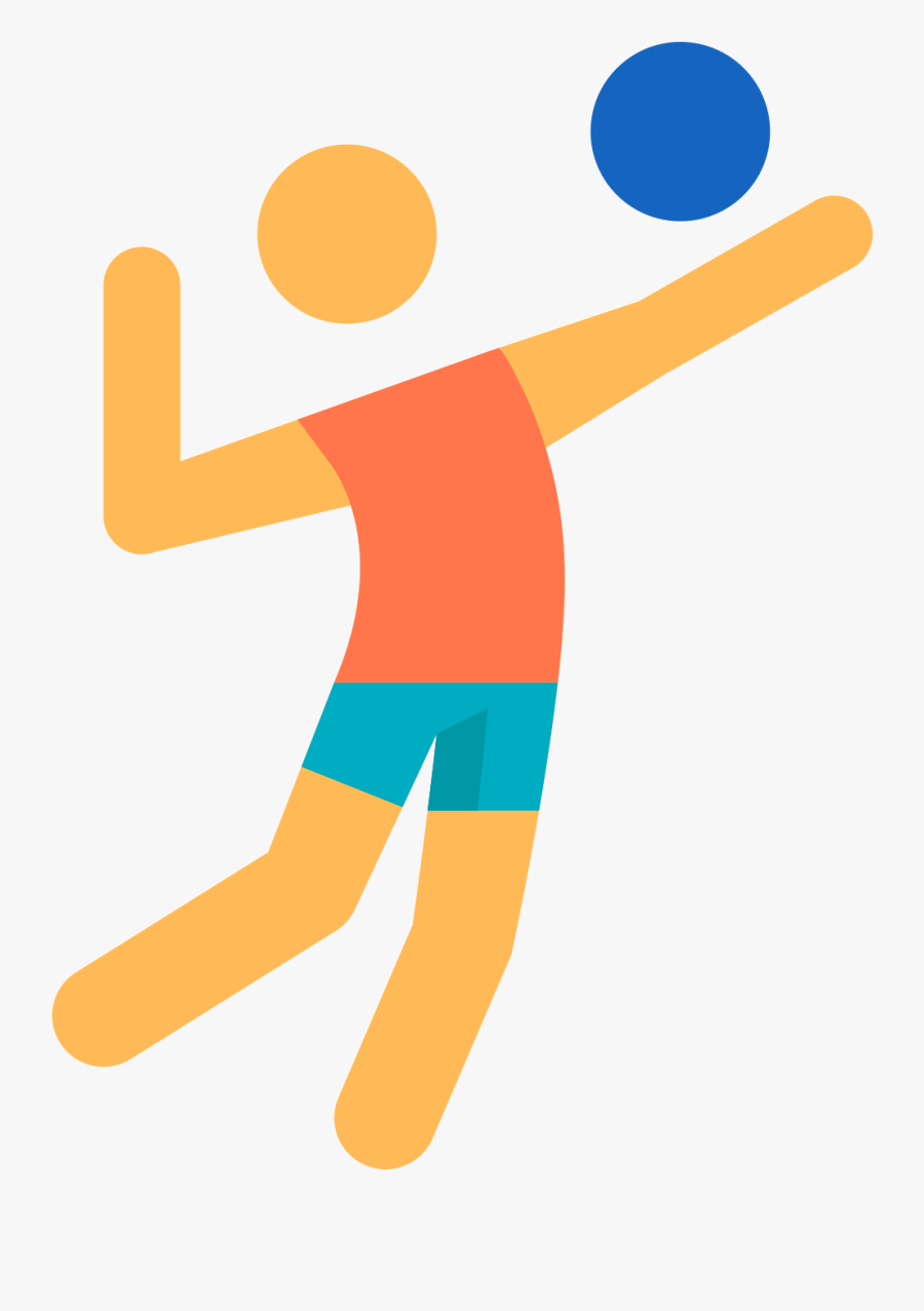 Beach Sport Icon Transprent - Volleyball Player Icon Png, Transparent Clipart