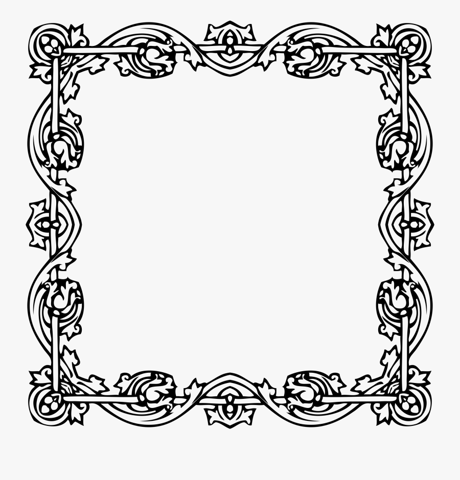 Clip Art Frame Image Freeuse - Victorian Style Photo Frame, Transparent Clipart