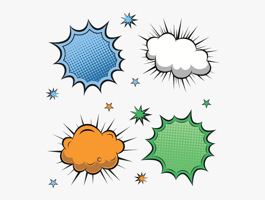 Clip Art Comic Book Vectors - Comic Speech Bubble Png, Transparent Clipart