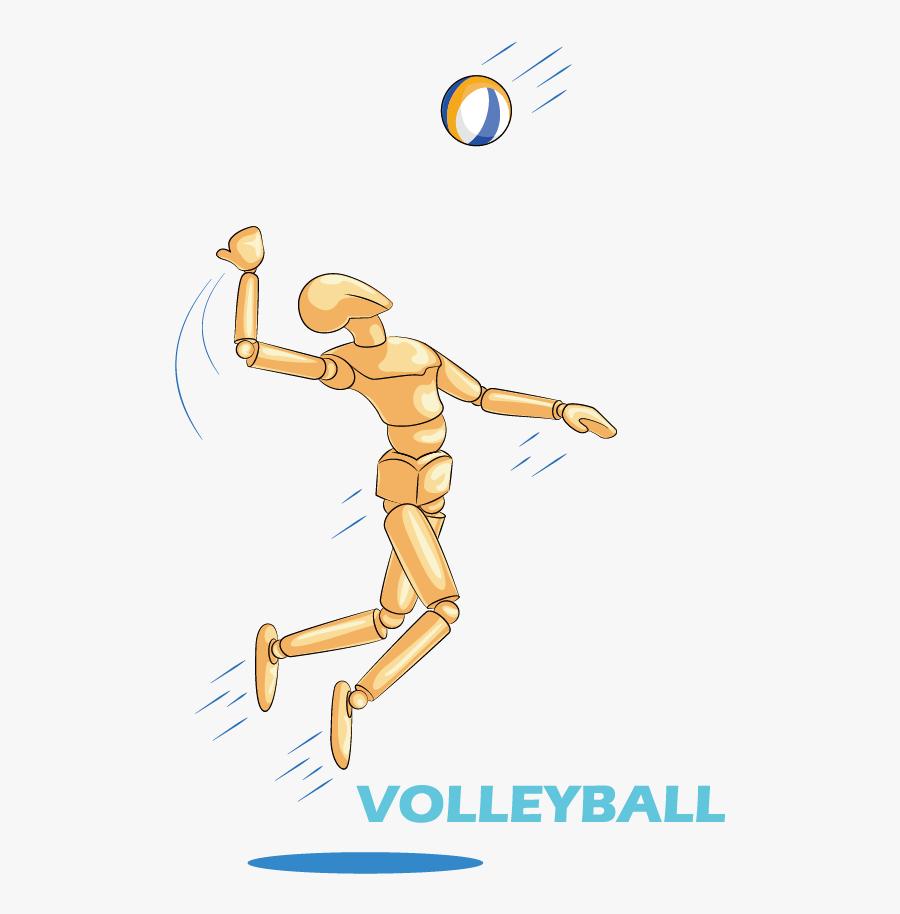 Volleyball Sport Clip Art - Volleyball, Transparent Clipart