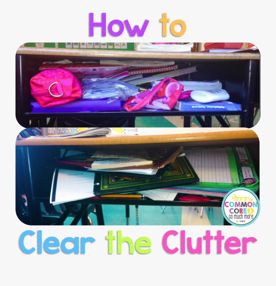 Student Messy Desk Vs Clean, Transparent Clipart