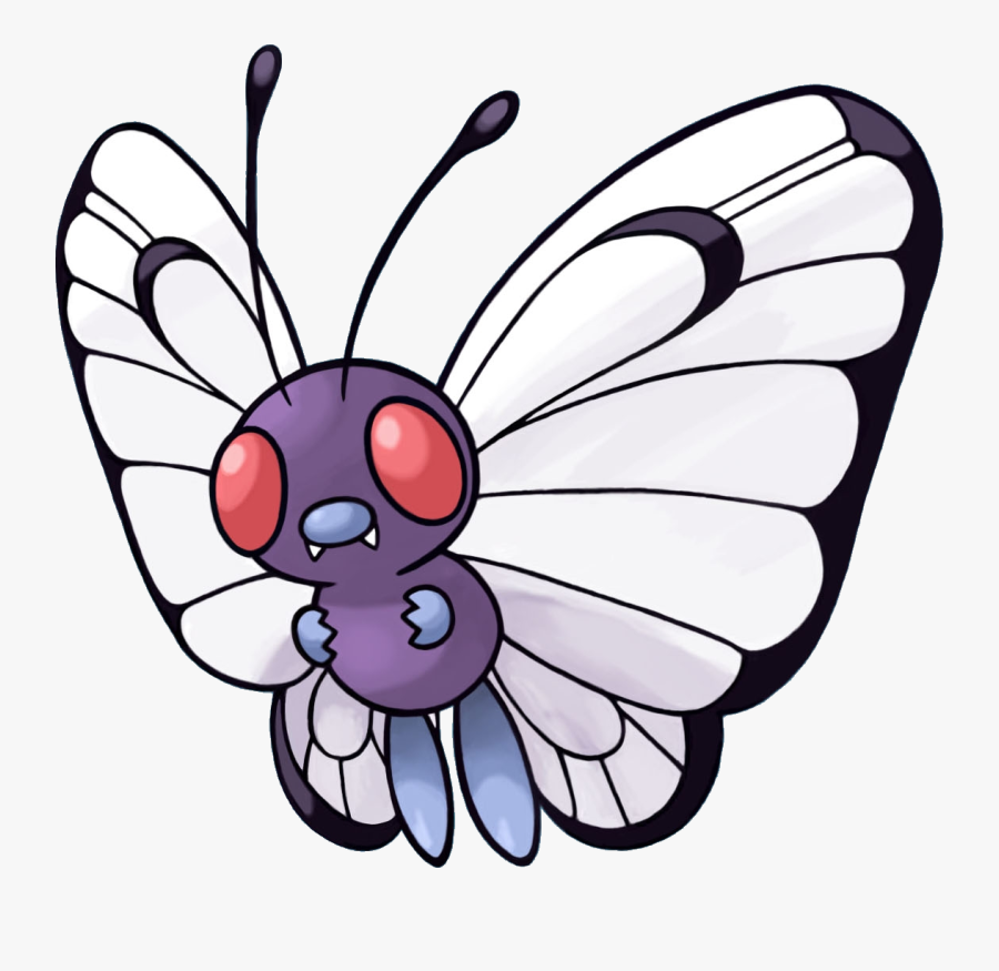 Collection Of Free Butterflies Drawing Evolution Download - Pokemon Butterfree, Transparent Clipart