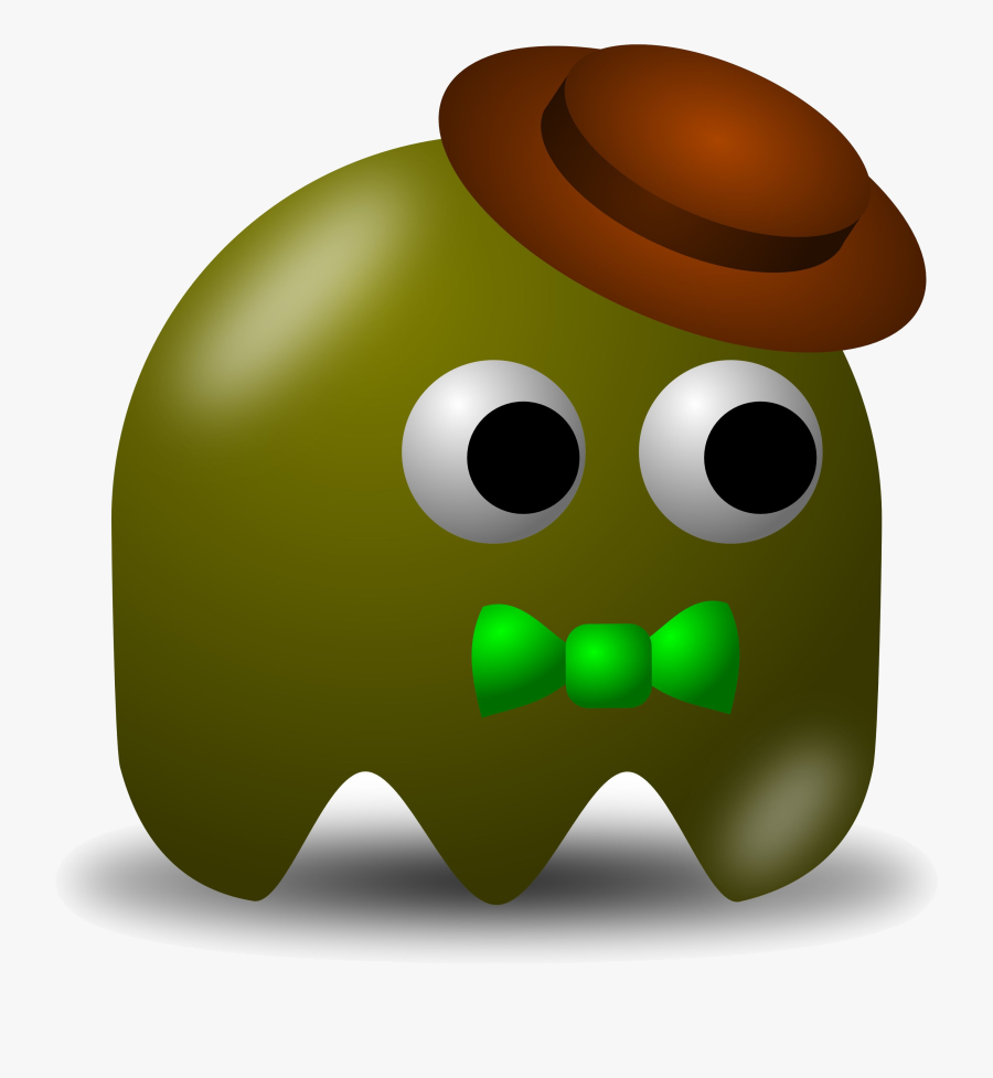 Pacman Ghost Elegant Clipart With Original Resolution - Brown Pac Man Ghost, Transparent Clipart